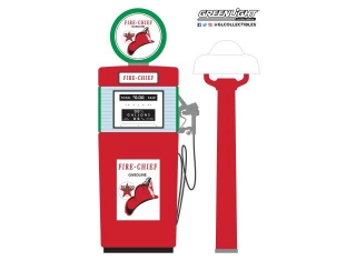 Wayne 505 Gas Pump Texaco Fire-Chief Gasoline with Pump Light Series 8 1951 red/white 1:18 GreenLight