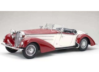 Horch 855 Roadster 1939 dark red/light beige 1:18 Sun Star