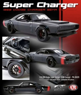 Dodge Super Charger SEMA Show Concept 1968 black/red 1:18 GT Spirit