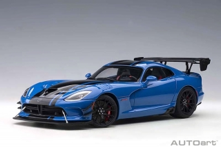 Dodge Viper ACR 2017 competition blue/black stripes 1:18 AUTOart
