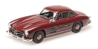 Mercedes-Benz 300 SL (W198) 1955 dark red 1:18 Minichamps