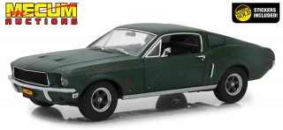 Ford Mustang GT Fastback Kissimmee 2020 Unrestored Bullitt 1968 green 1:18 Greenlight