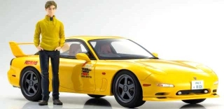 New Initial D the Movie Mazda RX-7 FD3S with Keisuke Takahashi yellow 1:18 Kyosho