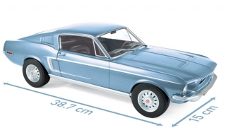 Ford Mustang Fastback 1968 light blue metallic 1:12 Norev