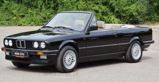 BMW 3er E30 Cabriolet 1985 black metallic 1:18 MCG Modelcar Group