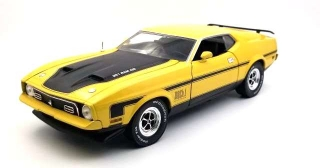 Ford Mustang Mach I 351 Ram Air 1971 medium bright yellow 1:18 Sun Star