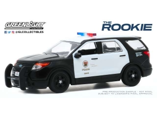 Ford Police Interceptor Utility Los Angeles Police Department *The Rookie 2018* 2013 black/white 1:43 Greenlight