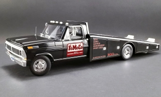 Ford F-350 Ramp Truck *FoMoCo Parts* 1970 black 1:18 Acme Diecast