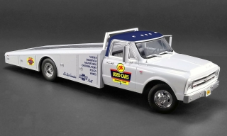 Chevrolet C-30 Ramp Truck * OK Used Cars* 1967 white 1:18 Acme Diecast