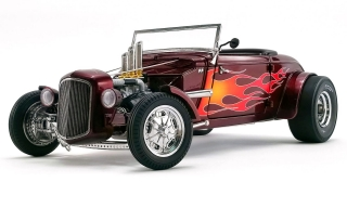Hot Rod Roadster 1934 brandywine metallic with flames 1:18 G.M.P.
