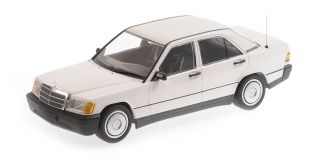 Mercedes-Benz 190E (W201) 1982 white 1:18 Minichamps