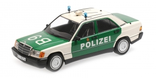 Mercedes-Benz 190E (W201) 1982 'Polizei Germany' 1:18 Minichamps