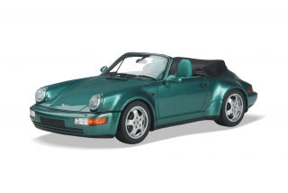 Porsche 911 964 Convertible Turbo Look 1992 Wimbledon green metallic 1:18 GT Spirit