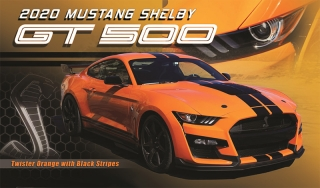 Ford Mustang Shelby GT500 2020 twister orange with black stripes 1:18 GT Spirit