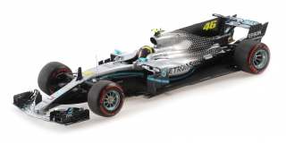 Mercedes-AMG Petronas Motorsport F1 W10 EQ Power+ Rossi Ride Swap 10 December Valencia 2019 1:18 Minichamps