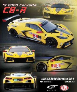Chevrolet Corvette C8-R #3 2020 race yellow/black 1:18 GT Spirit