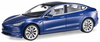 Tesla Model 3 2017 deep blue pearl 1:18 LS Collectibles