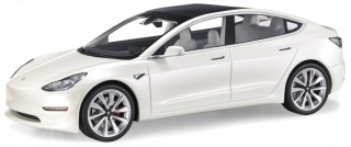 Tesla Model 3 2017 pearl white 1:18 LS Collectibles