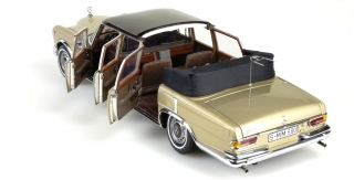 Mercedes-Benz 600 Pullmann Landaulet with Fixed Softtop 1960 beige/brown 1:18 CMC