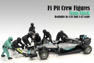 F1 Pit Crew Figures Set I Team silver (7 figures) 1:18 American Diorama