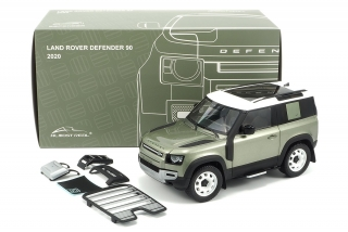 Land Rover Defender 90 with Roof Pack 2020 pangea green 1:18 Almost Real