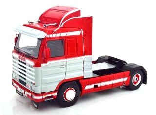 Scania 143M 500 Streamline Tractor Truck 2-Assi 1995 red/grey/white 1:18 Road Kings