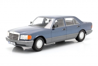 Mercedes-Benz S-Class 560SEL W126 2S 1985 blue 1:18 iScale