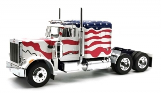 Peterbilt 359 1967 stars & stripes white/red/blue 1:18 Road Kings