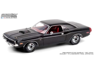 Dodge Challenger R/T 440 6-pack 1970 black/red interior/deluxe wheel covers 1:18 GreenLight