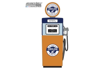 Wayne 505 Gas Pump *Zerolene the Standard Oil for Motor Cars* 1951 orange/blue/light blue 1:18 GreenLight