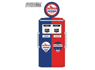 Tokheim 350 Twin Gas Pump *Chevron Supreme* 1954 red/blue 1:18 GreenLight