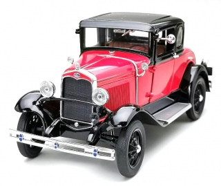 Ford Model A Coupe 1931 red/blue 1:18 Sunstar