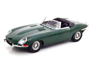 Jaguar E-Type Cabrio Open Series 1 LHD 1961 british racing green 1:18 KK Scale