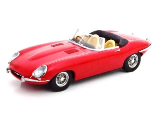 Jaguar E-Type Cabrio Open Series 1 RHD 1961 red 1:18 KK Scale