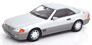Mercedes 500SL R129 1993 with removable Hardtop including side windows, silver 1:18 KK Scale