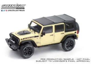 Jeep Wrangler Unlimited Rubicon Recon with Off-Road Parts Gobi 2018 1:43 Greenlight