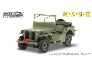M*A*S*H Willys MB Army Brigadier General 1942 1:43 Greenlight