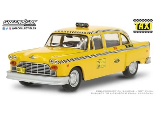 Checker Taxi Sunshine Cab Company #804 1974 *Taxi - TV series* 1:43 Greenlight