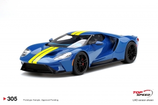 Ford GT Sunoco Blue w/ Yellow Stripe 1:18 TopSpeed Models