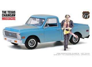 Chevrolet C-10 *the Texas Chainsaw Massacre * 1971 blue, with Leatherface Figure 1:18 Highway 61