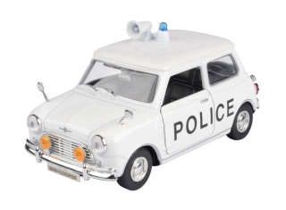 Classic Mini Cooper UK Police white/black 1:18 Motor Max