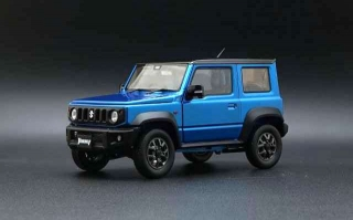 Suzuki Jimny JB64 LHD 2019 brisk blue metallic/black roof 1:18 BM Creations