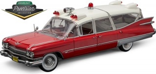 Cadillac Ambulance red and white 1959 1:18 Greenlight Precision Collection