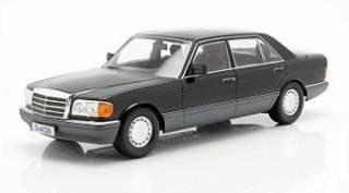 Mercedes-Benz 560 SEL W126 S-Class 1985 black/grey 1:18 iScale