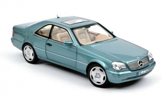 Mercedes-Benz CL600 Coupe 1997 blue metallic 1:18 Norev