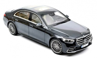 Mercedes-Benz S-Class AMG-Line 2021 anthracite blue metallic 1:18 Norev