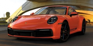 Porsche 911 Carrera 4S 2019 orange 1:18 Minichamps
