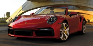 Porsche 911 992 Turbo S Cabriolet 2020 red 1:18 Minichamps
