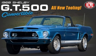 Shelby GT500 Convertible 1967 blue/white interior/ white top 1:18 Acme Diecast
