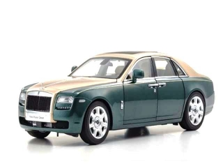 Rolls Royce Ghost SWB brooklands green/gold 1:18 Kyosho